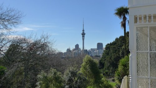 View from our balcony in Auckland