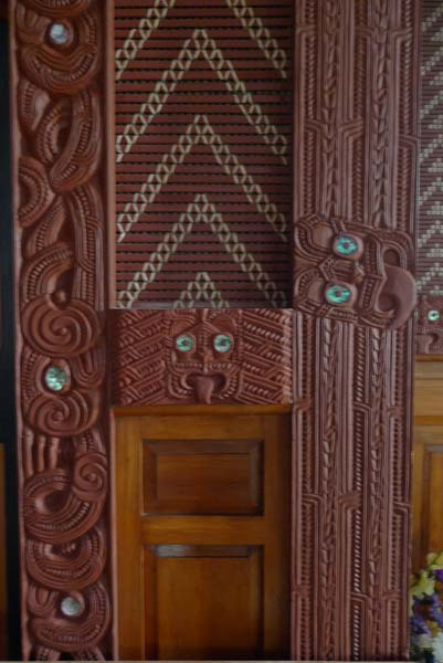 maori art inside the church